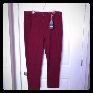 NWT! Deep Red High Waisted Skinny Pants